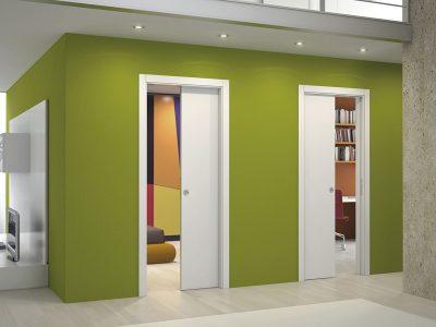 Раздвижные двери в соседних комнатах