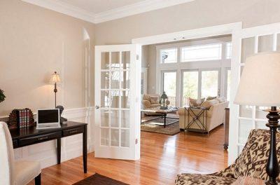 Двойные межкомнатные двери в классическом стиле