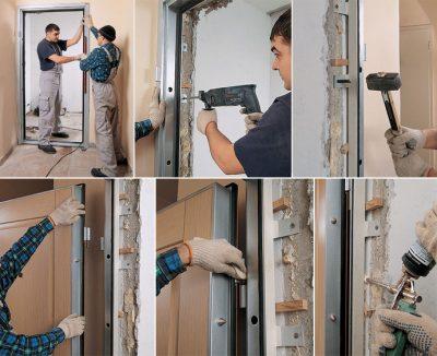 Алгоритм работ относительно монтажа дверного изделия
