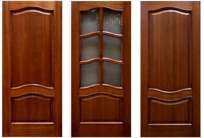Дверное строения из массива, фото