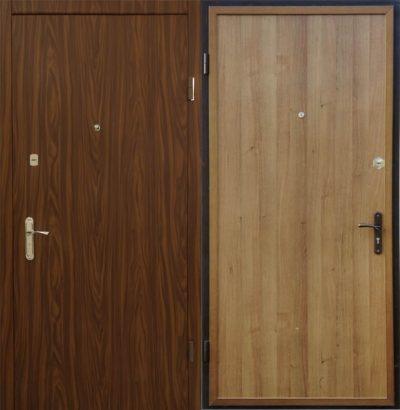 Вариант отделки полотна двери