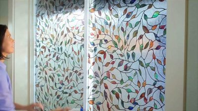 Витражная цветная пленка для дверного полотна