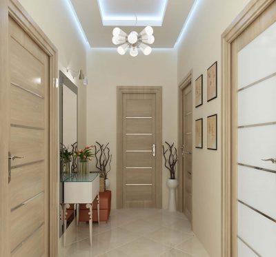 Современный дизайн квартиры с межкомнатными царговыми дверьми