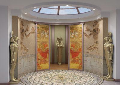 Дизайн помещения с радиусными полотнами