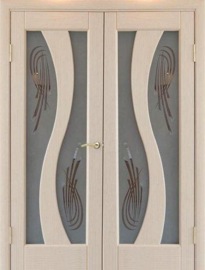 Дверь-распашонка со стеклом