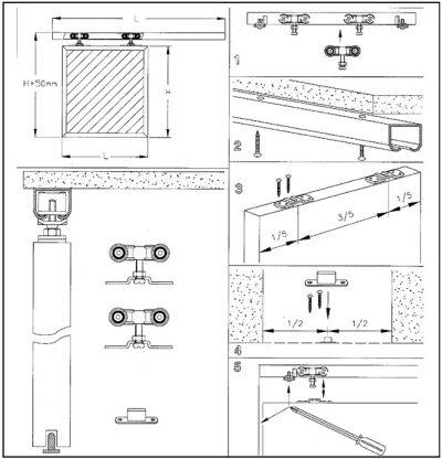 Раздвижные механизмы для дверей, фото