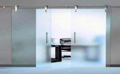 Выбор и установка раздвижных систем для стеклянных дверей