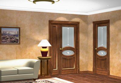 Временные двери в помещении