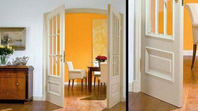 Облегченные распашные двери
