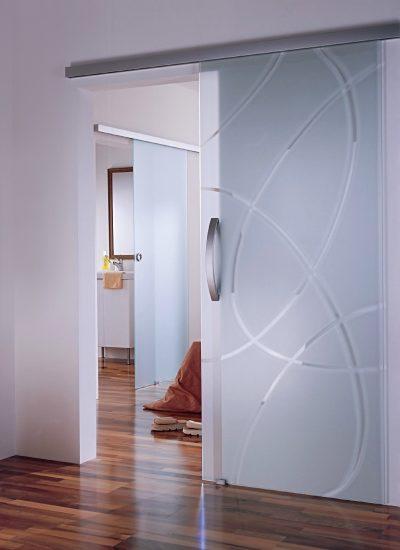 Полностью стеклянные двери