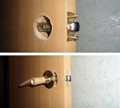 Шариковый фиксатор для двери
