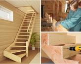 Как сделать модель лестницы на второй этаж своими руками: 26 фото с примерами и этапами работ