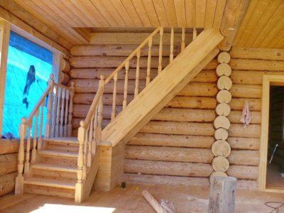 Принцип возведения качественной лестницы на второй этаж в бане своими руками