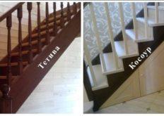 Варианты лестниц на одном косоуре – конструкция, виды, отличия от аналогов