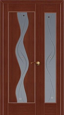 Полуторная дверь со стеклянной вставкой