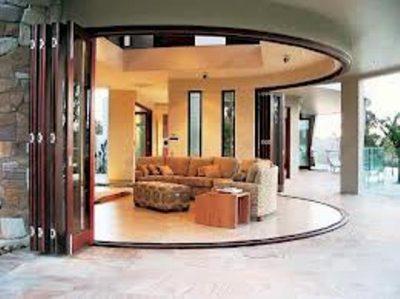 Межкомнатная радиусная дверь гармошка