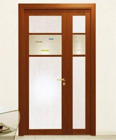 Неравнопольная двустворчая межкомнатная дверь