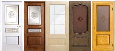 Деревянные двери с узором