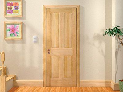 Межкомнатная дверка из цельного массива дерева