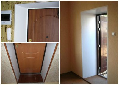 Пластиковые дверные откосы, оформленные в традиционных белых оттенках