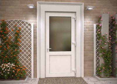 Вид классической двери со стеклом