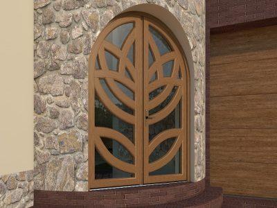 Красивая арочная дверь