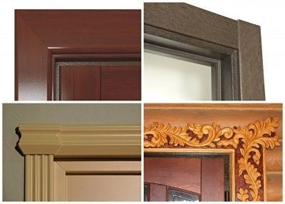 Дверь с декоративными наличниками