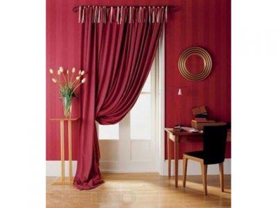 Плотные шторы декора из ткани
