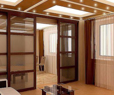Роскошная и легкая перегородка, зонирующая помещение