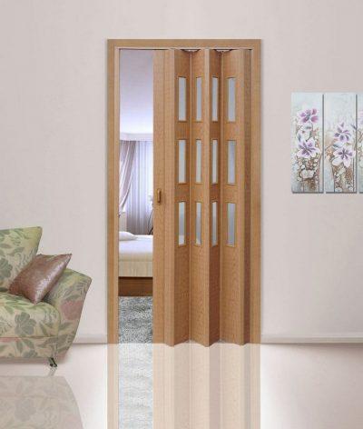 Дверь-гармошка, ламинированная под дерево