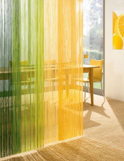 Салатово-желтые шторы