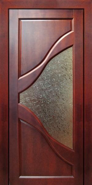 Межкомнатная дубовая дверь со стеклянной вставкой