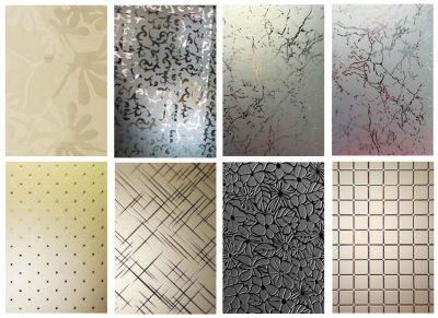 Варианты декоративных стекол
