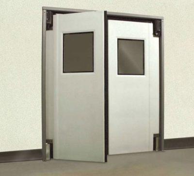 Маятниковая дверь из двух половинок