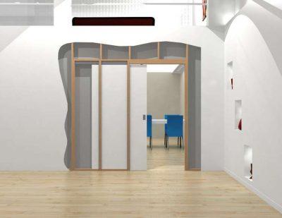 Кассеты для раздвижных дверей внутрь стены.