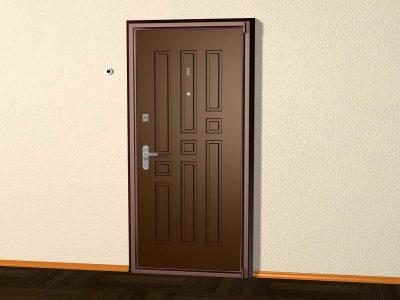 Входная металлическая дверь накладного типа