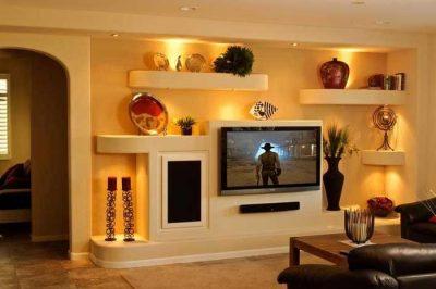 Загородка с нишей под телевизор