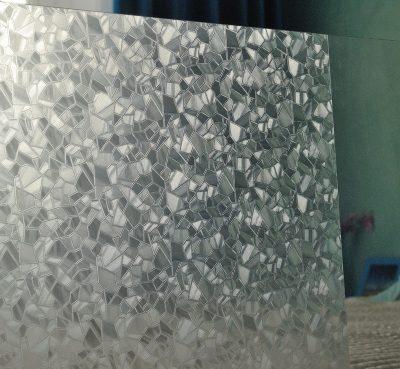 Матовое витражное пленочное покрытие для межкомнатной двери