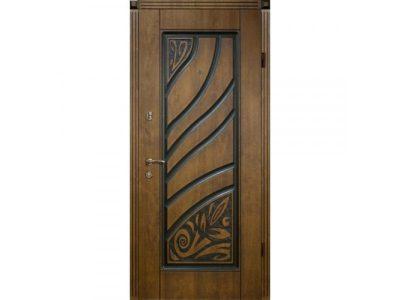 Патинированная дверь из стали
