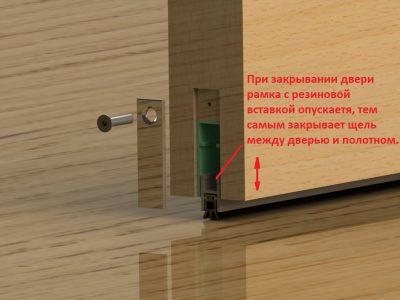 Автоматический вариант при захлопывании двери убирает отверстие между полом и дверцей