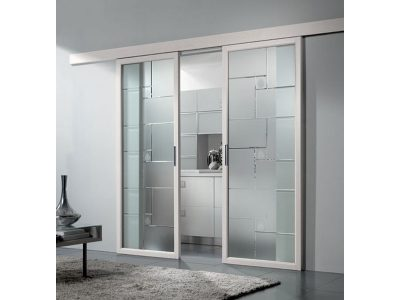 Фото стеклянных межкомнатных дверей