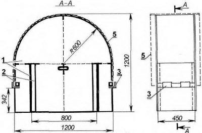 Сухой способ изгибания материала для создания конструкции с каркасом в интерьере