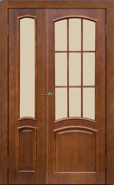 Ассиметричная дверная конструкция, дополняющая собой интерьер и становясь гармоничной составляющей