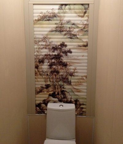 Мебельные жалюзи для туалета