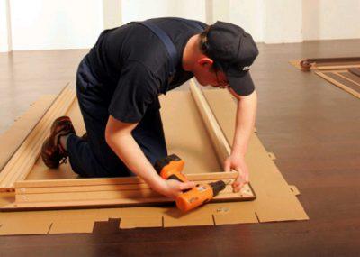 Сборка деревянной коробки