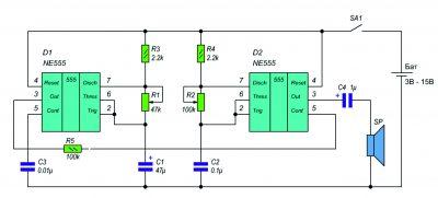 Схема проводного звонка