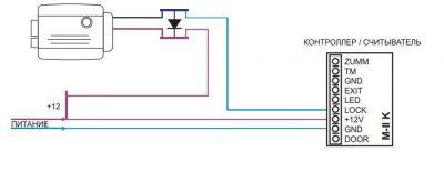 Схема применения диодного ключа