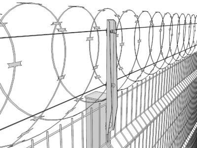 Шипы на забор