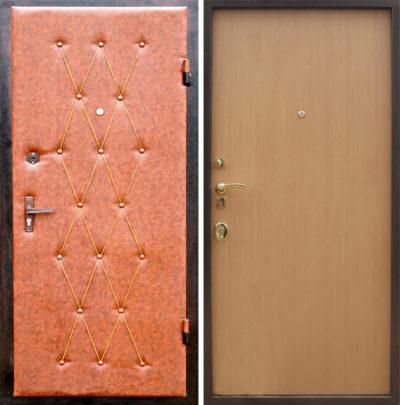 Двери до и после обивки