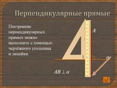 Определение места расположения конструкции из гипсокартона с помощью угольника